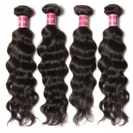4 Bundles UNice Virgin Hair Natural Wave With Lace Closure Human