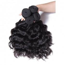 UNice Hair Kysiss Serie Good Natural weave 4 Bundles Virgin Hair With Closure