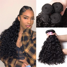 UNice Hair 4 Bundles Water Wave Unprocessed Virgin Hair