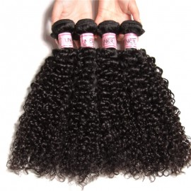 UNice Remy Human Hair 4pcs/pack Jerry Curly Weave
