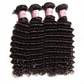 UNice 4 pcs/Pack 8A Grade Remy Human Hair Deep Wave Bundles