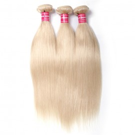 3PCS Straight Hair UNice Hair 613 Blonde Virgin Human Hair Extension Bundles