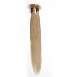 UNice 50g Nail Hair Extensions Peruvian Blonde Straight Human Virgin Hair 0.5 g/s