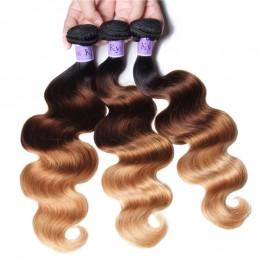 UNice Hair Kysiss Series 3 Bundles Three Tone Ombre Body Human Virgin Hair