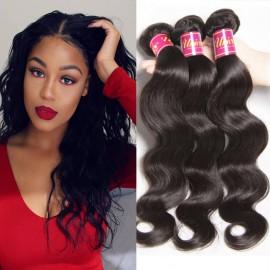 UNice 4pcs Brazilian Body Wave Hair Bundles With Lace Closure