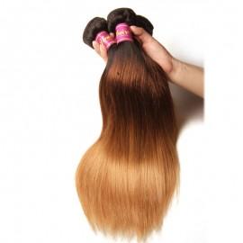 UNice 3Pcs/Lot Three Tone Ombre Straight Virgin Hair