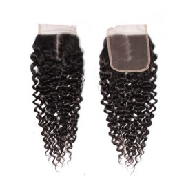 UNice Hair Icenu Series Jerry Curly Human Hair Lace Closure