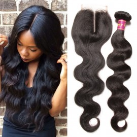 UNice 3pcs Indian Virgin Hair Body Wave With Closure