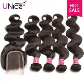 unice body wave human hair
