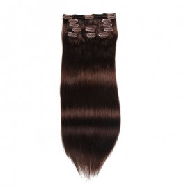UNice 100g Dark Brown Clip In Hair Extensions