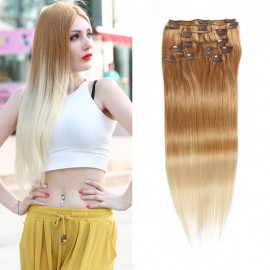 UNice 8 Pieces Full Head Clip in Hair Extensions Ombre