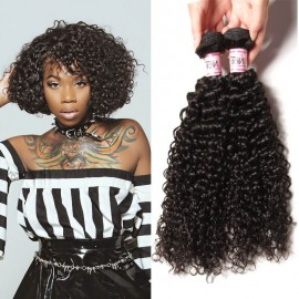 UNice 3 Bundles Jerry Curly 8A Grade Remy Hair