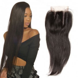 UNice 4pcs Indian Straight Hair With Closure