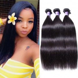 UNice-Kysiss Peruvian Straight Hair Weft 3 Bundles 8A Virgin Hair