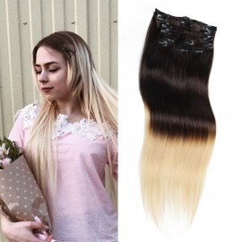 UNice Ombre Clip in Hair Extensions 100 g
