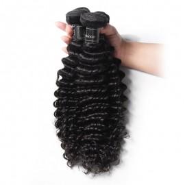 4 pcs/Pack 10A Grade Remy Virgin Hair 100% Human Deep Wave Bundles
