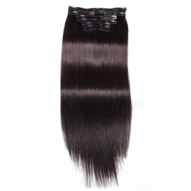 UNice 100g Jet Black Clip In Hair Extensions