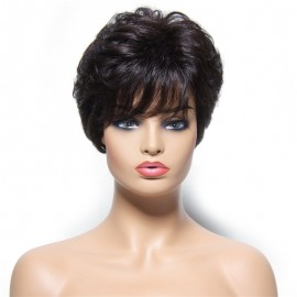 UNice Hair Bettyou Wig Serices Short Layered Straight Human Hair Wigs For Women