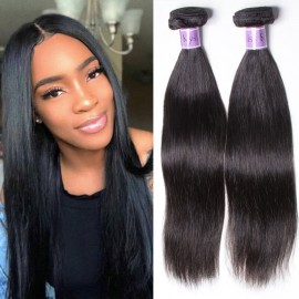 Kysiss Series Peruvian Straight Hair 3 Bundles deals with Lace closure