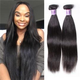 UNice Hair Kysiss Series 8A Brazilian Straight Hair 4 Bundles Virgin Human Hair Weave