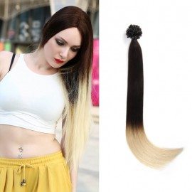 UNice 100s 0.5g/s Omber Straight Nail/U Tip Remy Hair Extensions