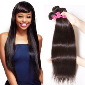 UNice Brazilian Human Virgin Hair Straight 3 Bundles