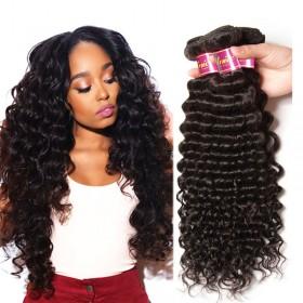 UNice Brazilian Deep Wave Human Virgin Hair 4 Bundles