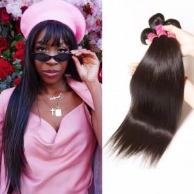 4 Bundles UNice Peruvian Straight Virgin Human Hair Extensions