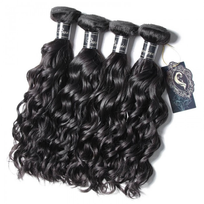 UNice Cheveux Banicoo Séries  Produits Luxe Légers Premium Cheveux Vierges 4 Paquets Natural Wave