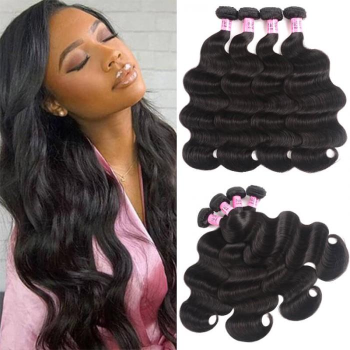 UNice Cheveux Icenu séries cheveux 4 Pcs / paquet  péruvienne vague des corps vierges cheveux humains