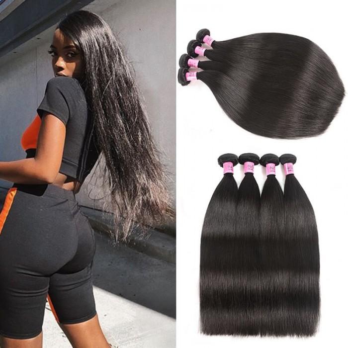 UNice cheveux Icenu Séries Malaysiens vierge raides cheveux 4 pcs / paquet
