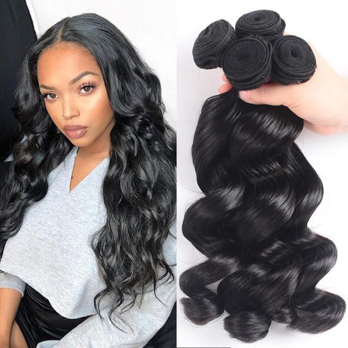 UNice Cheveux Icenu Série 4 Paquets des Loose Wave Cheveux Vierges