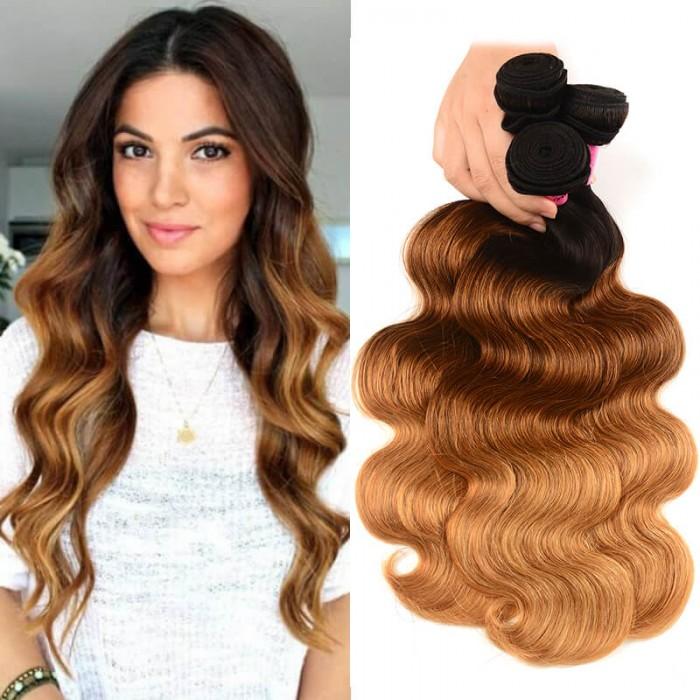 UNice Cheveux Icenu Séries 3 Paquets Brésiliens Cheveux Humains Ombrés Body Wave Human Hair