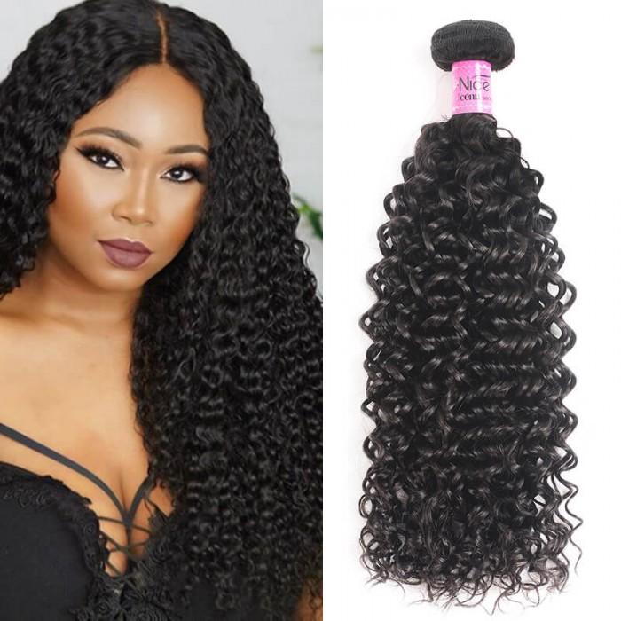 UNice Cheveux Icenu Série 1 Piece Jerry Curly Tissage de cheveux vierges humains
