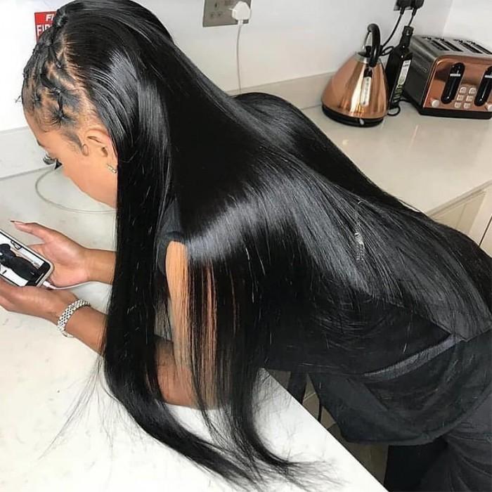 UNice Cheveux Kysiss Séries Cheveux Bresiliens 3pcs Vierge+ Extension des Cheveux Humains Droites