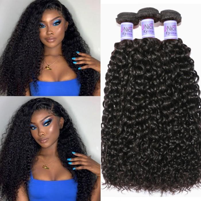 UNice Cheveux jerry bouclés braziliens 3 faisceaux des cheveux vierges cheveux kysiss séries