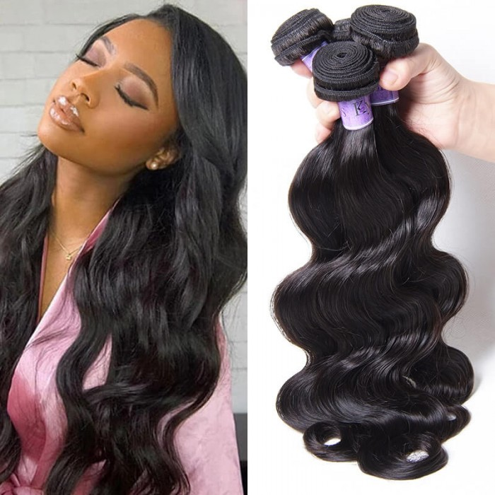 UNice Cheveux Kysiss Séries Vierge+ 100% Humain Indien 3 Paquets Body wave
