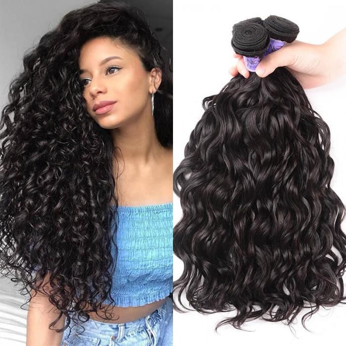 UNice Cheveux Kysiss Séries 3 Faisceaux Products Vague Naturelle Indienne Bon Marché