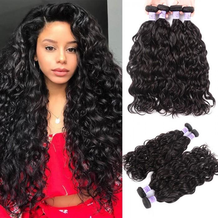UNice Cheveux Kysiss Malaisiennes Naturelles Vagues 4pcs /Lot Extensions Des Cheveux Humains Bon Marché