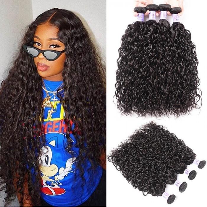 UNice Cheveux Kysiss Séries Vierge+ Water Wave péruvienne 4 Pcs / paquet  Produits