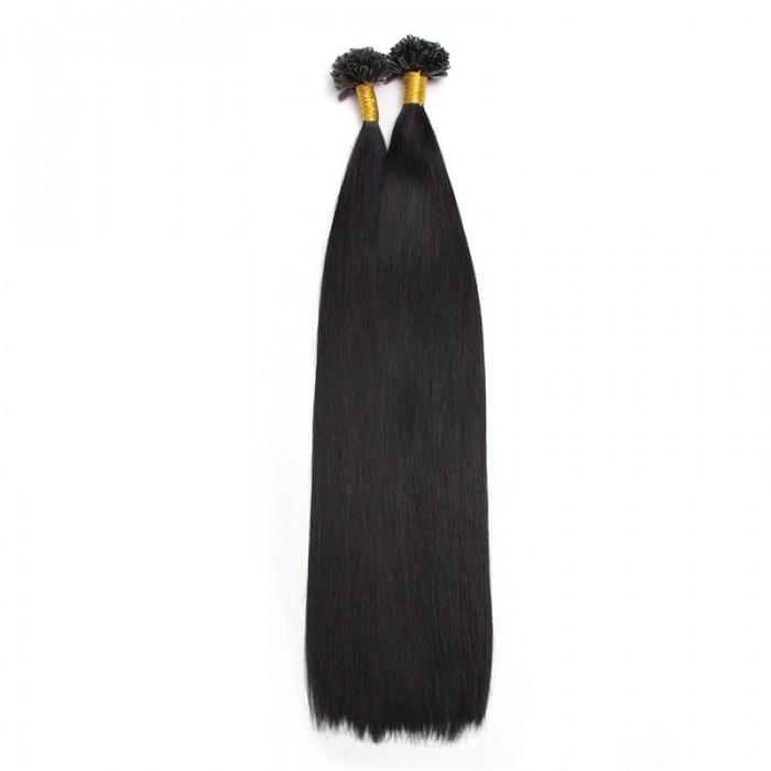 UNice 100s 0.5g/s Droit Nail/U Tip Vierge Cheveux Extensions