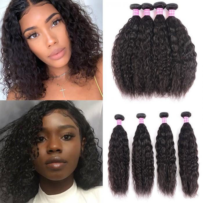 Unice Cheveux Icenu série vierge humain cheveu des vagues avec la fermeture 4x4 swiSS en dentelle Raie Libre