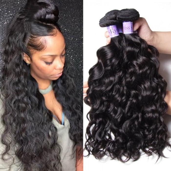 UNice Cheveux Kysiss Series Produit Malaisien De Trame De Vague Naturelle De Série De Kysiss Des Cheveux d'Unice 3 Paquets