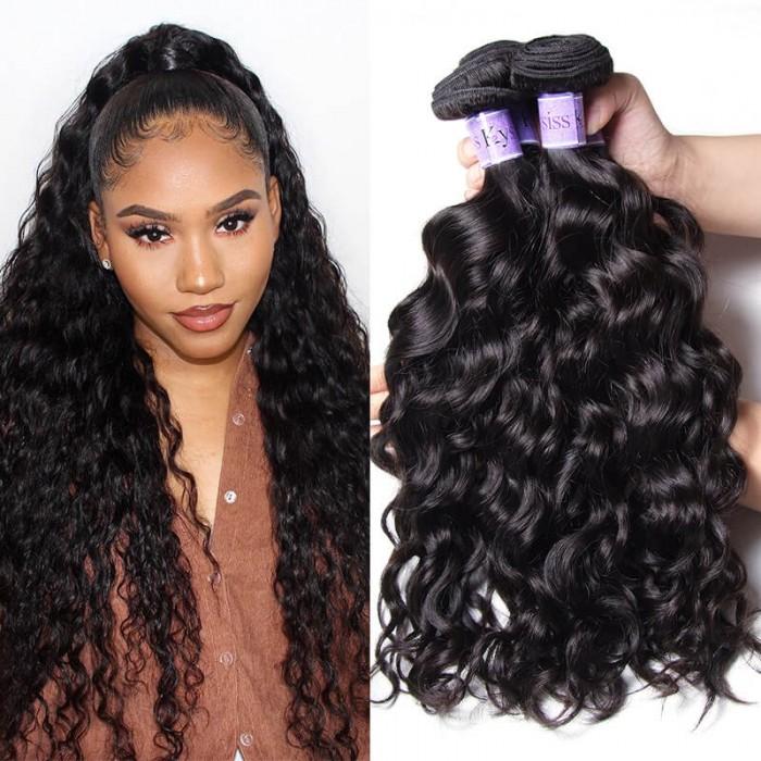 Unice Cheveux Kysiss Séries Vierge+ Catégorie Naturelle 3 Faisceaux Peruviennes Des Vagues Naturelles Trames