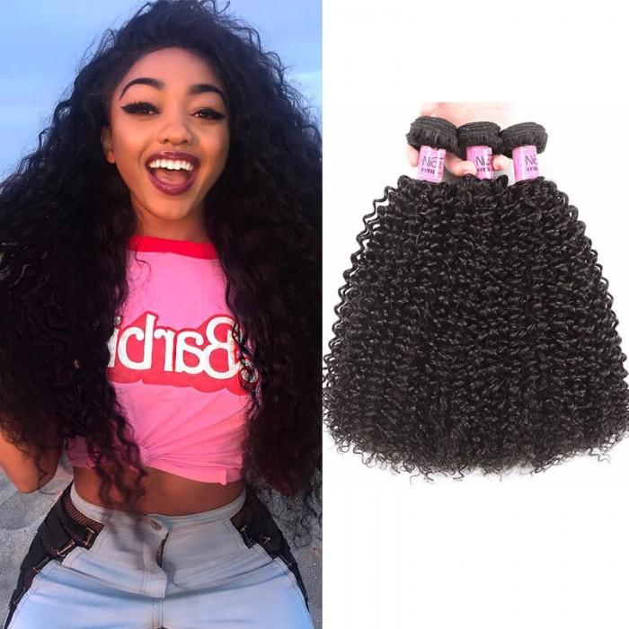 UNice Série Icenu cheveux 100% cheveux humains vierges crépus bouclés cheveux 3 paquets
