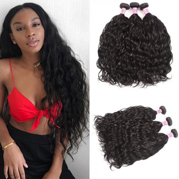 Unice Cheveux Icenu Série Paquets péruviens des cheveux humains Natural wave 3pcs / lot