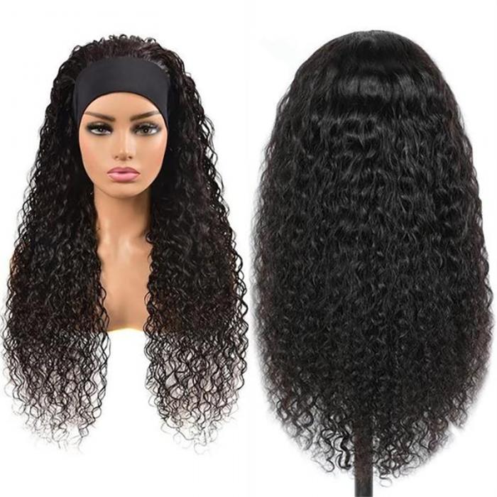 UNice Top Qualité Perruque Bandeau Water Wave Naturelle Couleur Humain Cheveux