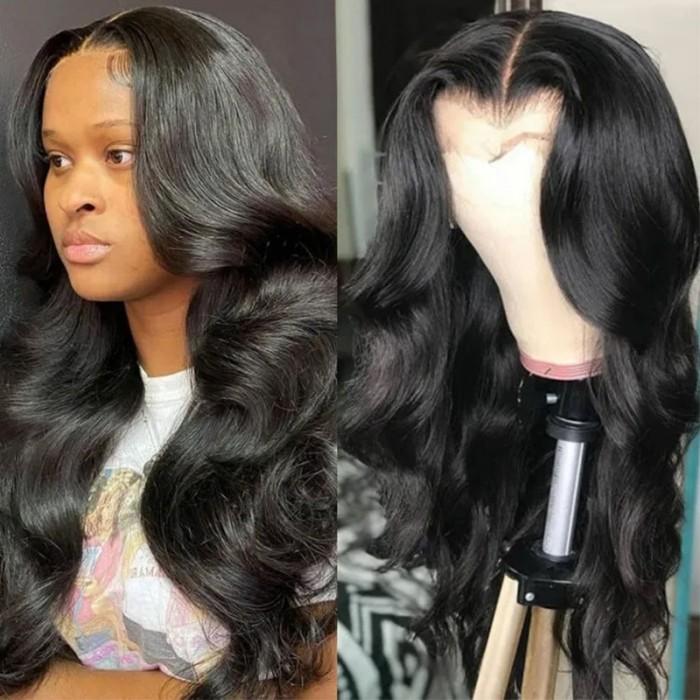 UNice Cheveux Body Wave Cheveux Humains Avant De Lacet 13*4 Lace Frontal Perruque Femme