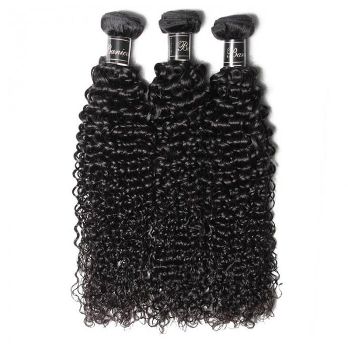 UNice Cheveux 3 Paquets Jerry Curly Vague Cheveux Vierge Premium Banicoo Séries