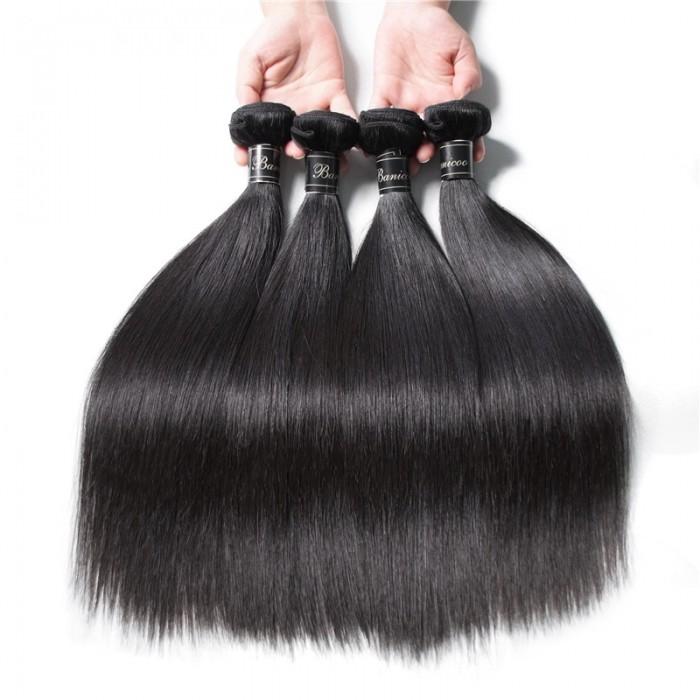 UNice Cheveux Banicoo Série 4pcs / paquet Raides Vierges Paquets Meilleure Classe Vierge